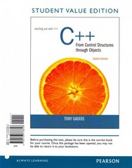 Starting Out with C++ from Control Structures to Objects, Student Value Edition plus MyProgrammingLab with Pearson eText -- Access Card Package 8th Edition 9780133862232 0133862232
