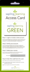 Sapling Learning Access Card 1st Edition 9780983385950 0983385955
