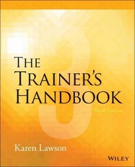 The Trainer's Handbook 4th Edition 9781118933138 1118933133