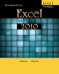 Microsoft Excel 2010 Level 1 with data files CD (Benchmark Series) 1st Edition 9780763843144 0763843148