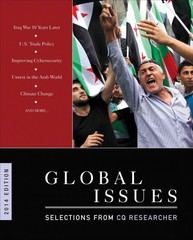 Global Issues; Selections from CQ Researcher 2014 Edition 1st Edition 9781483364537 1483364534