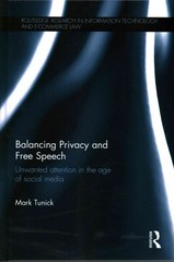 Balancing Privacy and Free Speech 1st Edition 9781317650379 1317650379