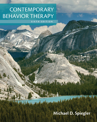 Contemporary Behavior Therapy 6th Edition 9781305446359 1305446356