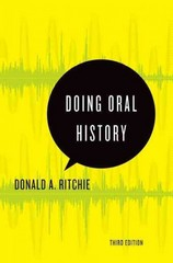 Doing Oral History 3rd Edition 9780199329335 0199329338