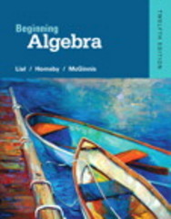 Beginning Algebra 12th Edition 9780321969330 0321969332