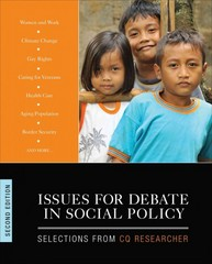 Issues for Debate in Social Policy 2nd Edition 9781483365978 1483365972
