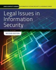 Legal Issues In Information Security 2nd Edition 9781284054743 1284054748