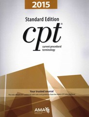 Current Procedural Terminology (CPT) Standard Edition 2015 1st Edition 9781622020270 1622020278