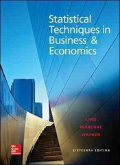 Statistical Techniques in Business and Economics with Connect Access Card 16th edition 9781259301537 1259301532