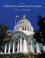 California Criminal Law Concepts 2014 Edition 14th Edition 9781269655538 1269655531