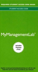 2014 MyManagementLab with Pearson eText --  Access Card -- for Management 12th Edition 9780133834826 0133834824