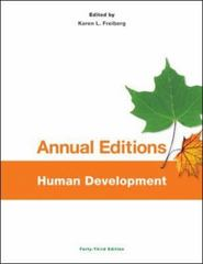 Annual Editions: Human Development, 43/e 43th Edition 9781259175435 125917543X