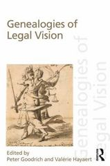 Genealogies of Legal Vision 1st Edition 9780415749060 0415749069