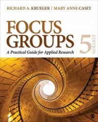 Focus Groups 5th Edition 9781483365244 1483365247