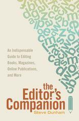 The Editor's Companion 1st Edition 9781599639024 1599639025