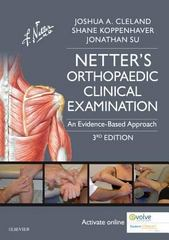 Netter's Orthopaedic Clinical Examination 3rd Edition 9780323340632 0323340636