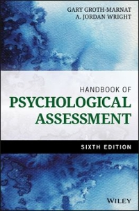 Handbook of Psychological Assessment 6th Edition 9781118960646 1118960645