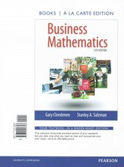Business Mathematics Books a la Carte Edition Plus NEW MyMathLab with Pearson eText -- Access Card Package 13th Edition 9780133906226 0133906221