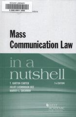 Mass Communication Law in a Nutshell 7th Edition 9780314280633 0314280634