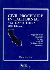 Civil Procedure in California 2014th Edition 9780314290885 0314290885