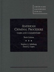 American Criminal Procedure 10th Edition 9780314285577 0314285571
