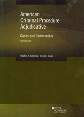 American Criminal Procedure Adjudicative 10th Edition 9780314285584 031428558X