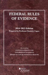 Federal Rules of Evidence 2014-2015 2014th Edition 9781628101256 1628101253