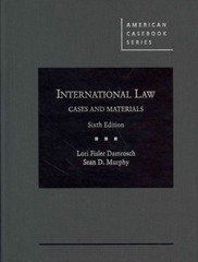 International Law, Cases and Materials, 6th 6th Edition 9780314286437 0314286438