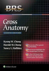 BRS Gross Anatomy 8th Edition 9781451193077 1451193076