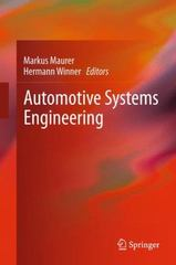 Automotive Systems Engineering 1st Edition 9783642437854 3642437850