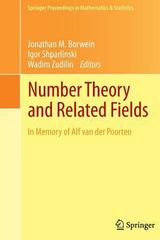 Number Theory and Related Fields 1st Edition 9781493902170 1493902172