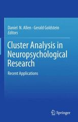Cluster Analysis in Neuropsychological Research 1st Edition 9781489998637 1489998632