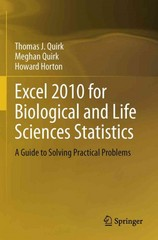 Excel 2010 for Biological and Life Sciences Statistics 1st edition 9781461457794 1461457793