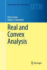 Real and Convex Analysis 1st Edition 9781489998590 1489998594