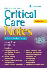 Critical Care Notes 2nd Edition 9780803642232 0803642237