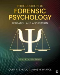 Introduction to Forensic Psychology 4th Edition 9781483365312 148336531X