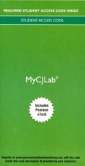 MyCJLab with Pearson eText -- Access Card -- for Criminal Justice 10th Edition 9780133979619 013397961X