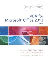 Exploring VBA for Microsoft Office 2013, Brief 1st Edition 9780133428162 0133428168