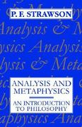 Analysis and Metaphysics 1st Edition 9780198751182 0198751184