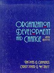 Organization Development and Change 5th edition 9780314012531 0314012532