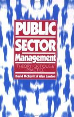 Public Sector Management 0 9780803977136 0803977131