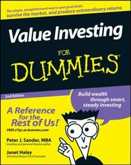 Value Investing For Dummies 2nd edition 9780470232224 0470232226