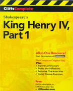 CliffsComplete King Henry IV 1st edition 9780764585708 0764585703