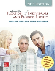 McGraw-Hill's Taxation of Individuals and Business Entities, 2015 Edition 6th Edition 9780077862367 0077862368