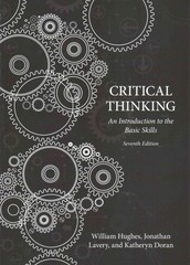 Critical Thinking 7th Edition 9781554811977 155481197X