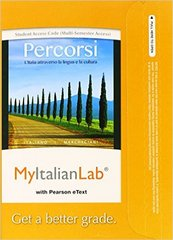 MyItalianLab with Pearson eText -- Access Code -- for Percorsi 3rd Edition 9780205999354 0205999352