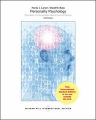 Personality Psychology: Domains of Knowledge about Human Nature 5th Edition 9780071318525 0071318526