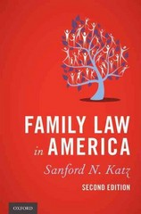 Family Law in America 2nd Edition 9780199759224 0199759227