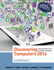 Discovering Computers, Essentials 2016 1st Edition 9781305392076 1305392078