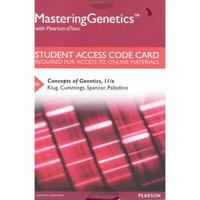 MasteringGenetics with Pearson eText -- Standalone Access Card -- for Concepts of Genetics 11th Edition 9780133981964 0133981967